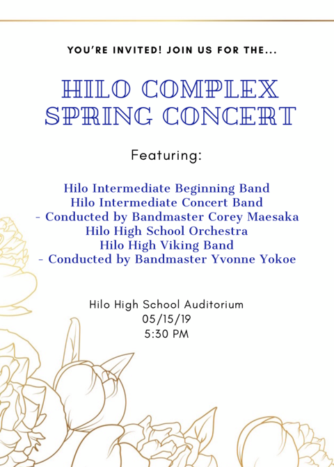 Hilo Complex Band Concert Set For May 15 Featured Photo