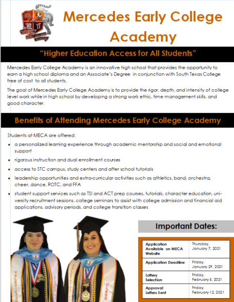 Mercedes Early College Academy Recruitment Flyer Featured Photo
