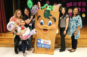 Pearson Elementary student, Isabella Ortiz, is an HEBuddy Advocate Award recipient.