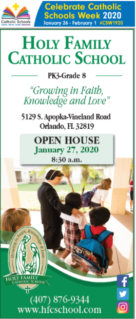Open House 2020 & Catholic Schools Week Featured Photo
