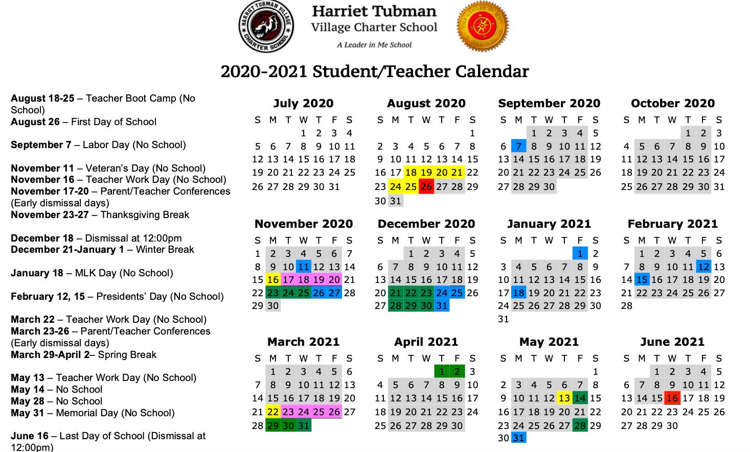 School Year Calendar 2020 21 – School Year Calendar 2020 21