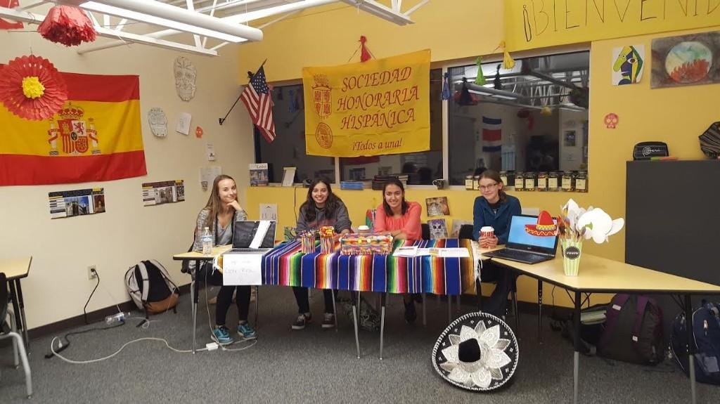 Spanish honor society shows their stuff