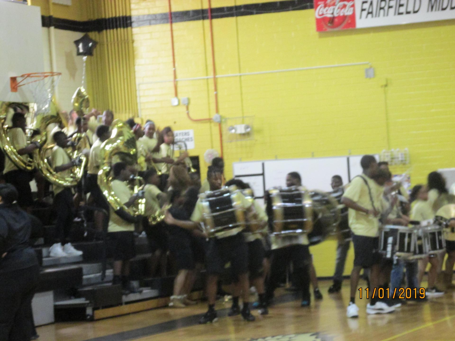 Fairfield Central High School Band at Pep Rally