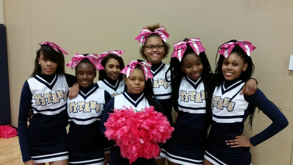 CPA Titans cheerleaders, 2017 Pink Out Game
