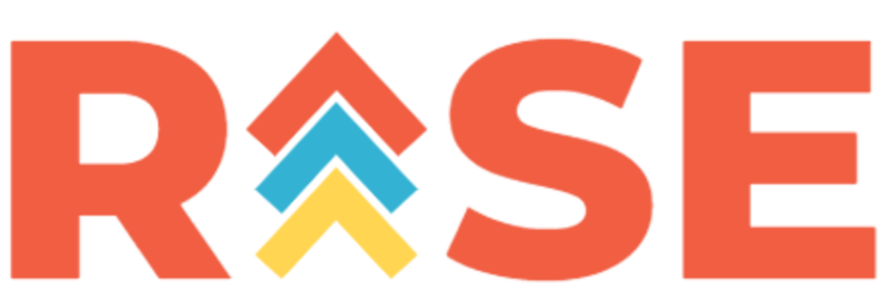 RISE logo that is orange, blue and yellow.