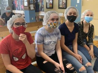 Service project at feed my starving children