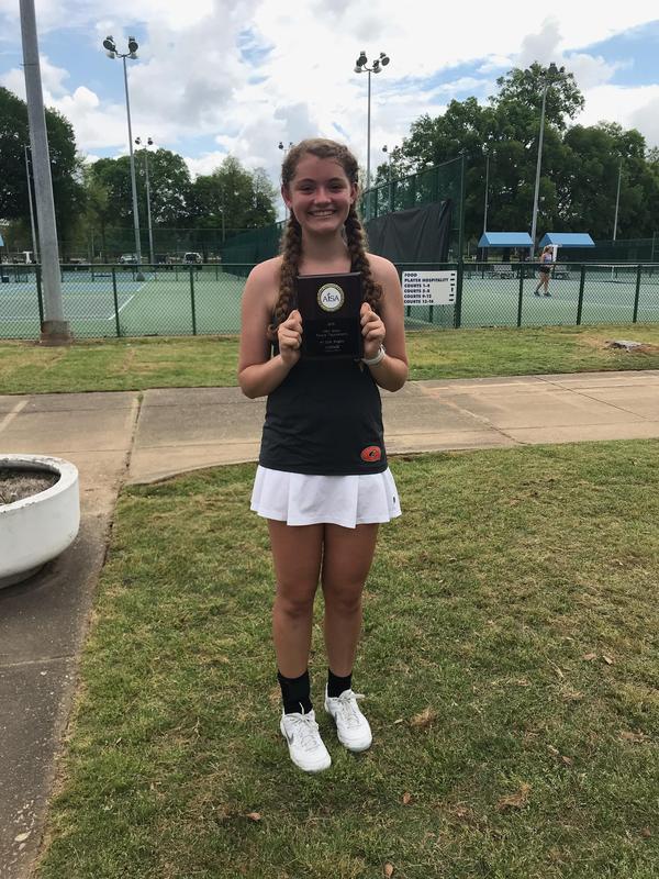 8th Grade Student, Katie Jones, wins AISA Tennis State Championship Thumbnail Image