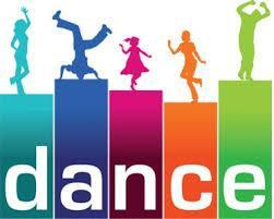 the word dance in different colors