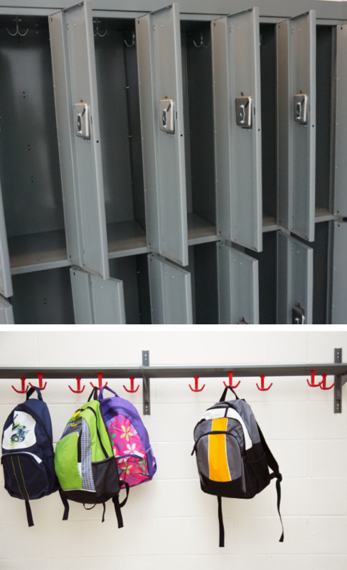 picture of lockers and backpacks