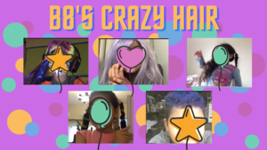 Students with crazy hair collage