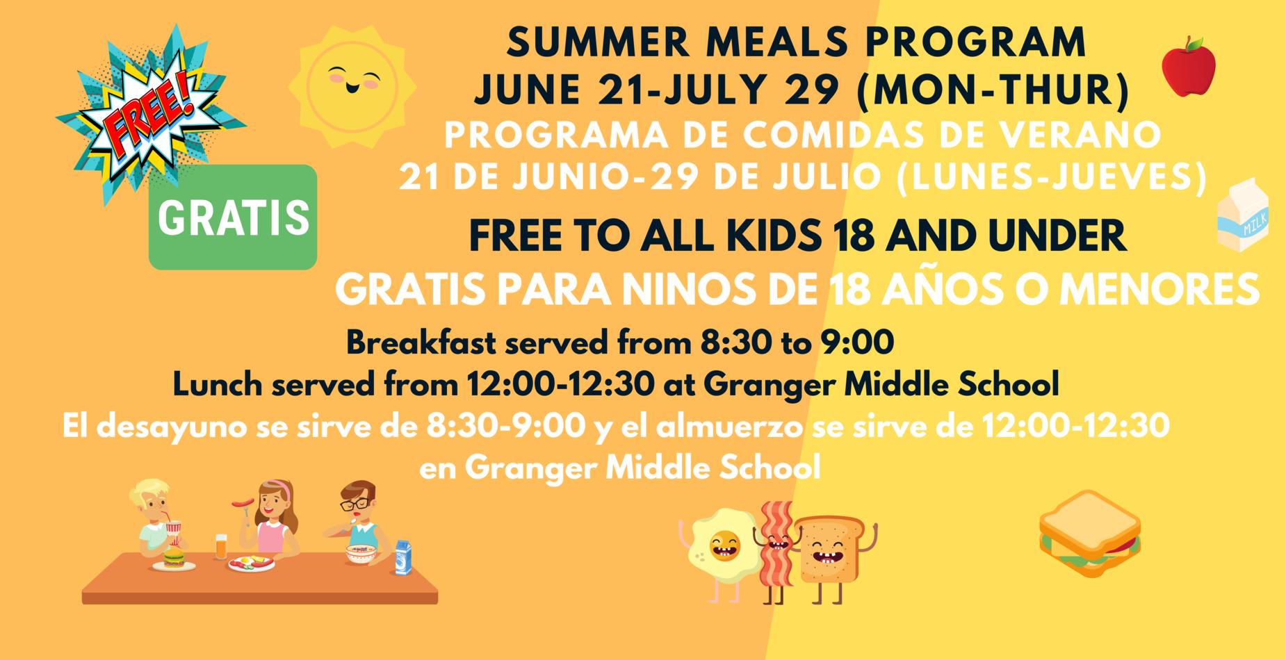 Summer Meals Program Flyer