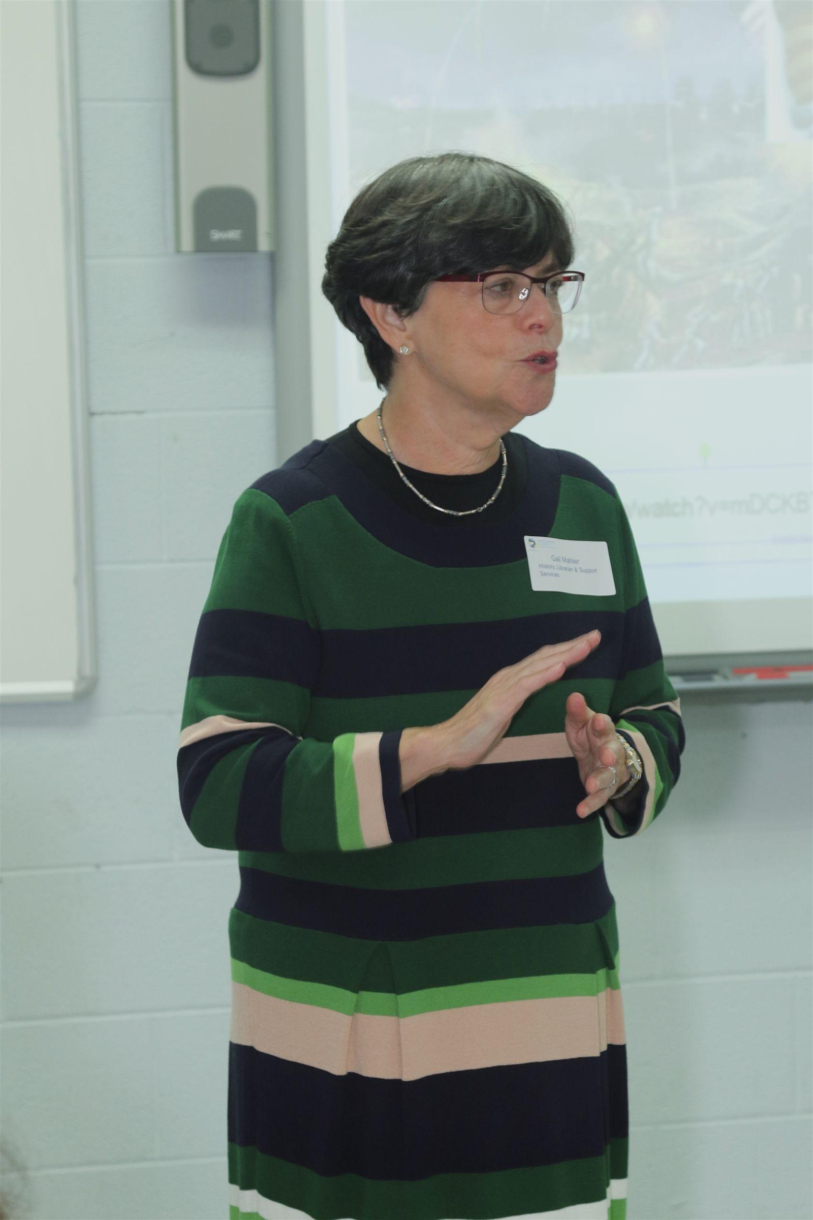 Mrs. Gail Mahler teaching an AP Euro class