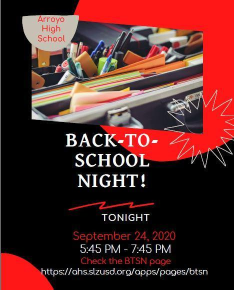 Back to School Night is Tonight 9/24 Featured Photo