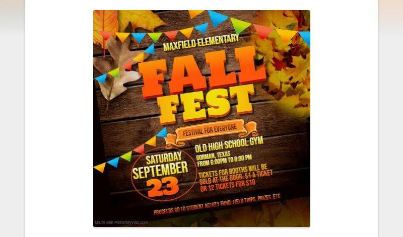 MAXFIELD ELEMENTARY FALL FESTIVAL COMING Featured Photo