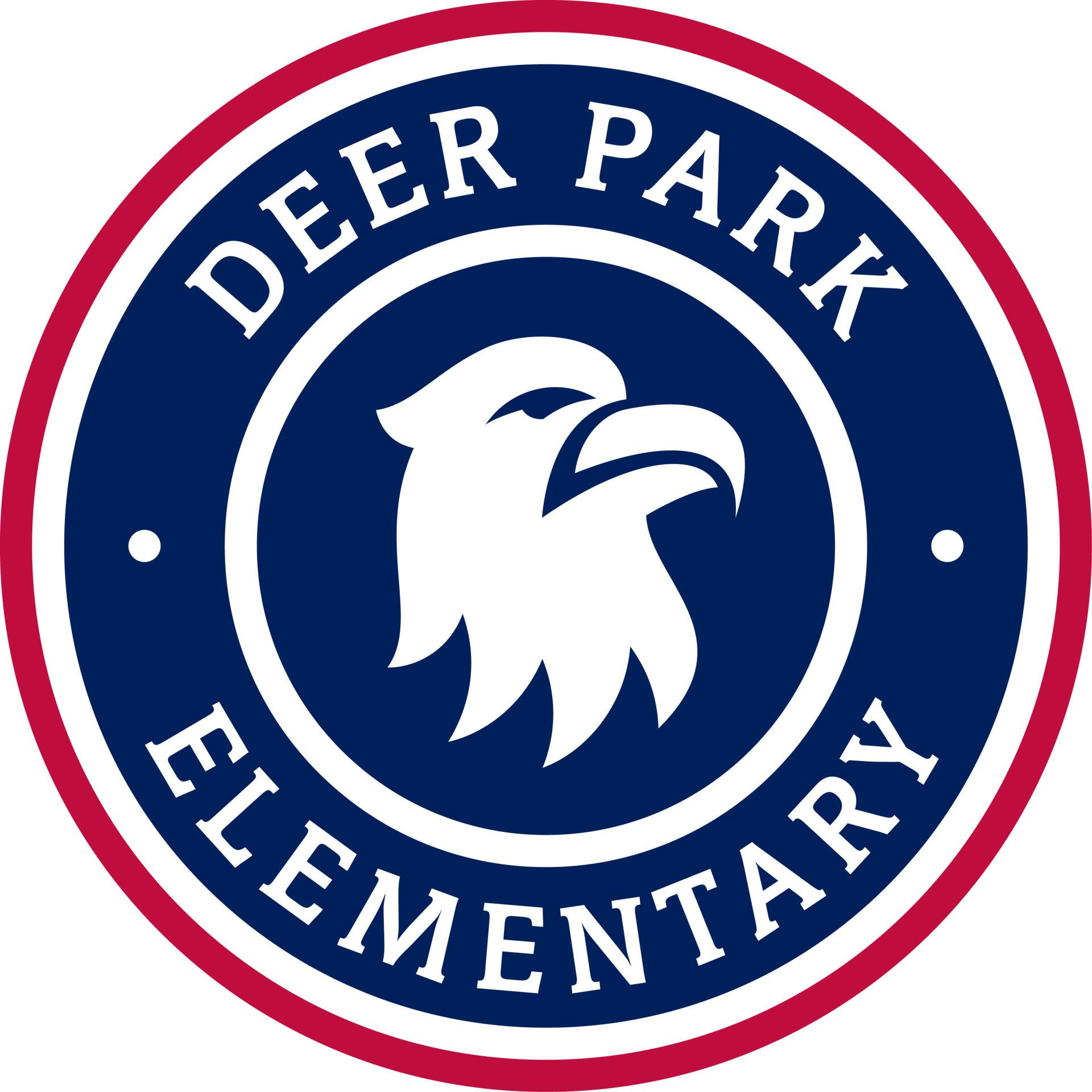 Deer Park Elementary school seal with eagle