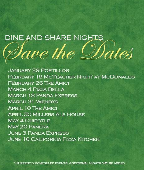 Dine and Share Nights