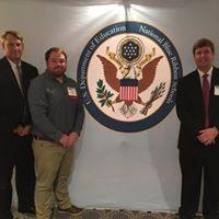 Mr. Kross, Mr. Sanders & Dr. Douglas receiving the Blue Ribbon Award in Washington, D.C.