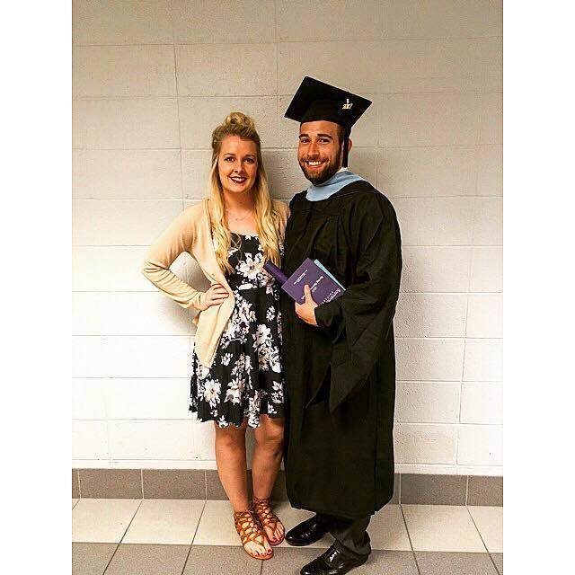 My Wife and I at Graduation