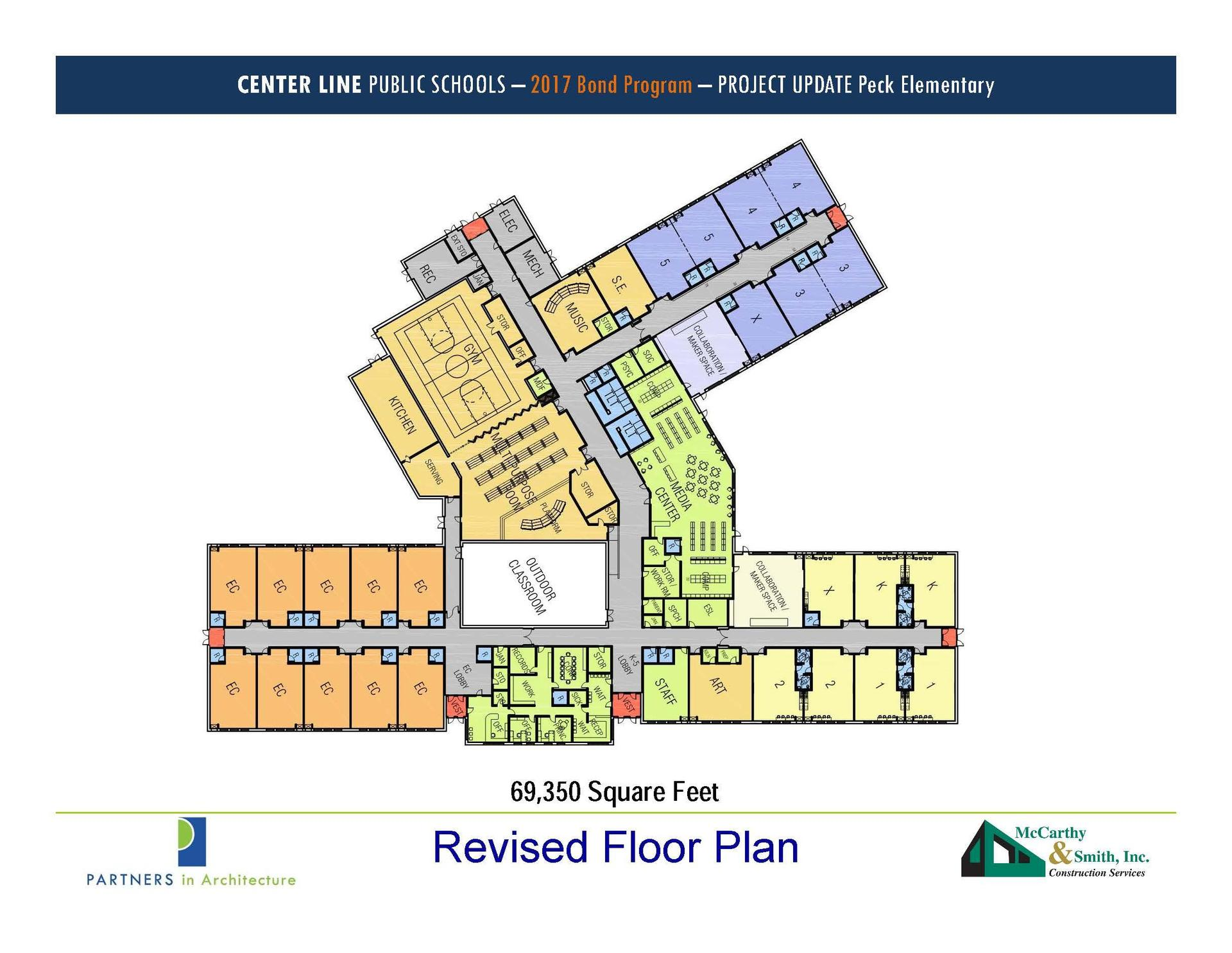 diagram of new Peck including internal room allocations