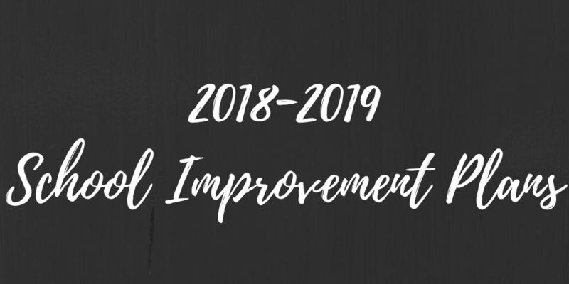 2018-2019 School Improvement Plans Thumbnail Image