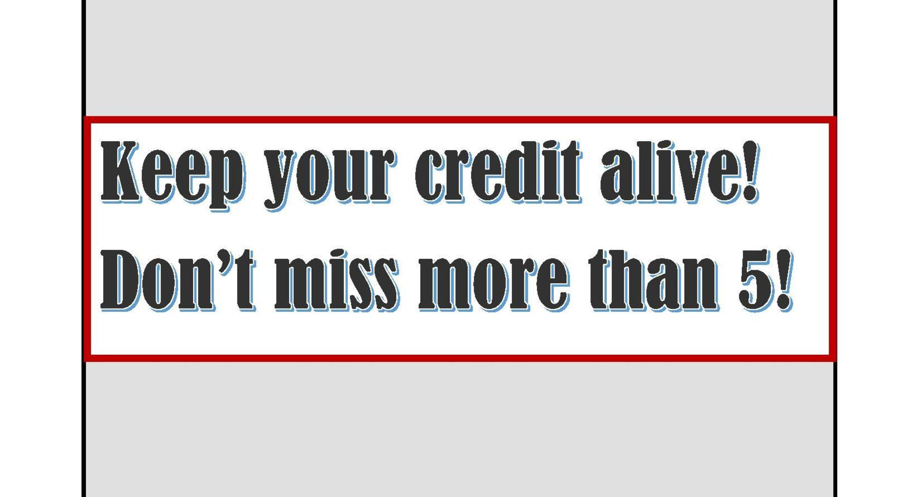 Credit - Absences