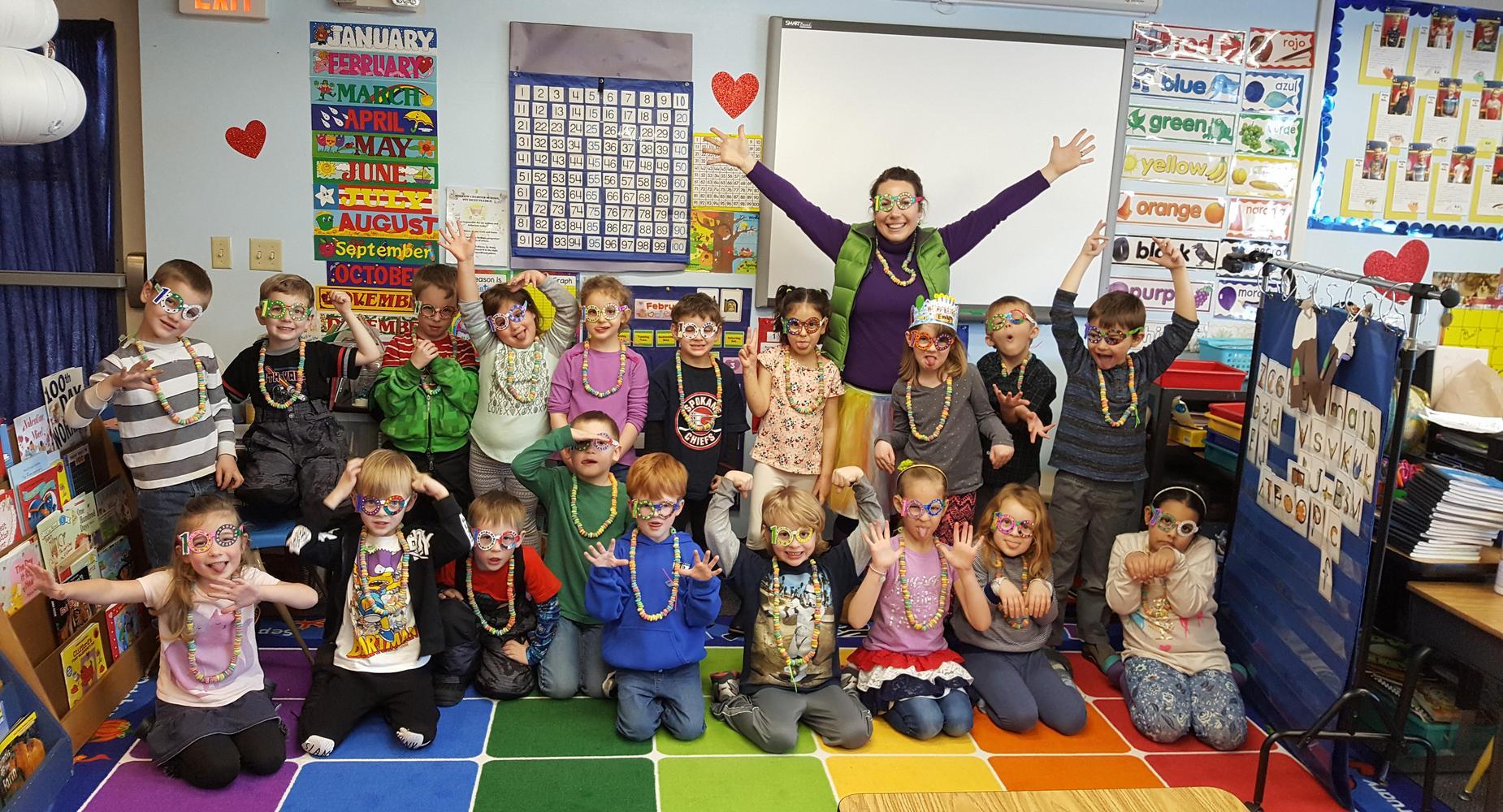 Kindergarten Celebrates 100 days