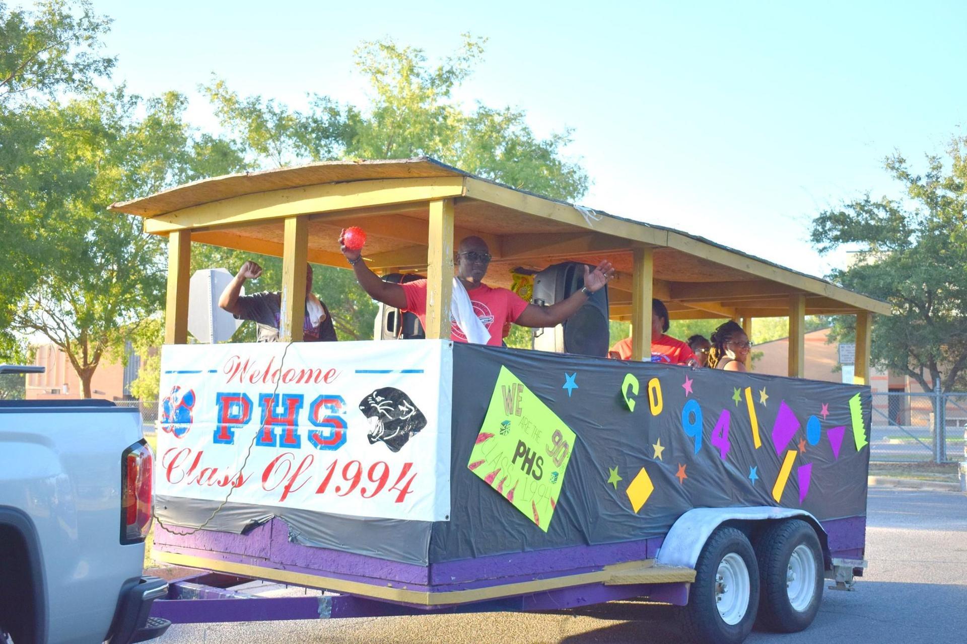 Grand Marshal Kitty Bardwell Leads PHS Homecoming Parade