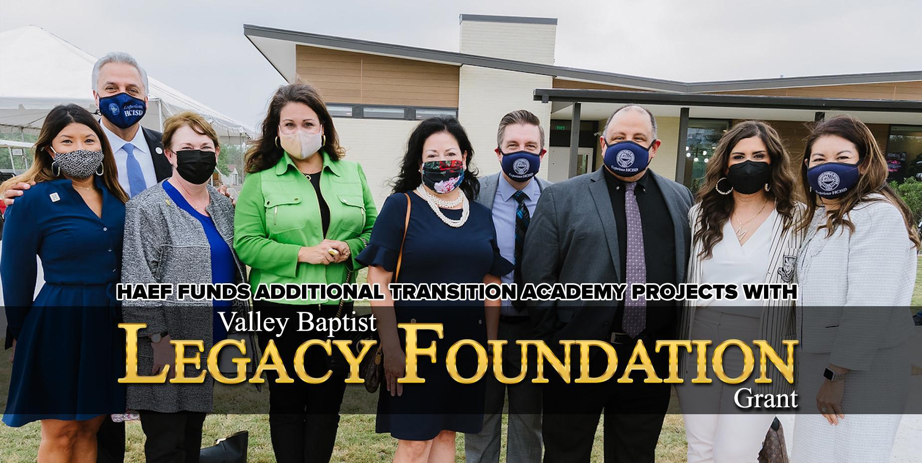 HAEF funds additional transition academy projects with Valley Baptist Legacy Foundation grant