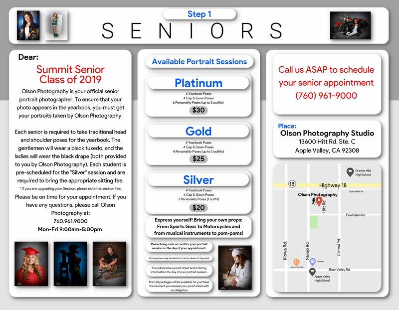 ATTENTION 2019 SENIORS! Schedule your senior photos now! Thumbnail Image