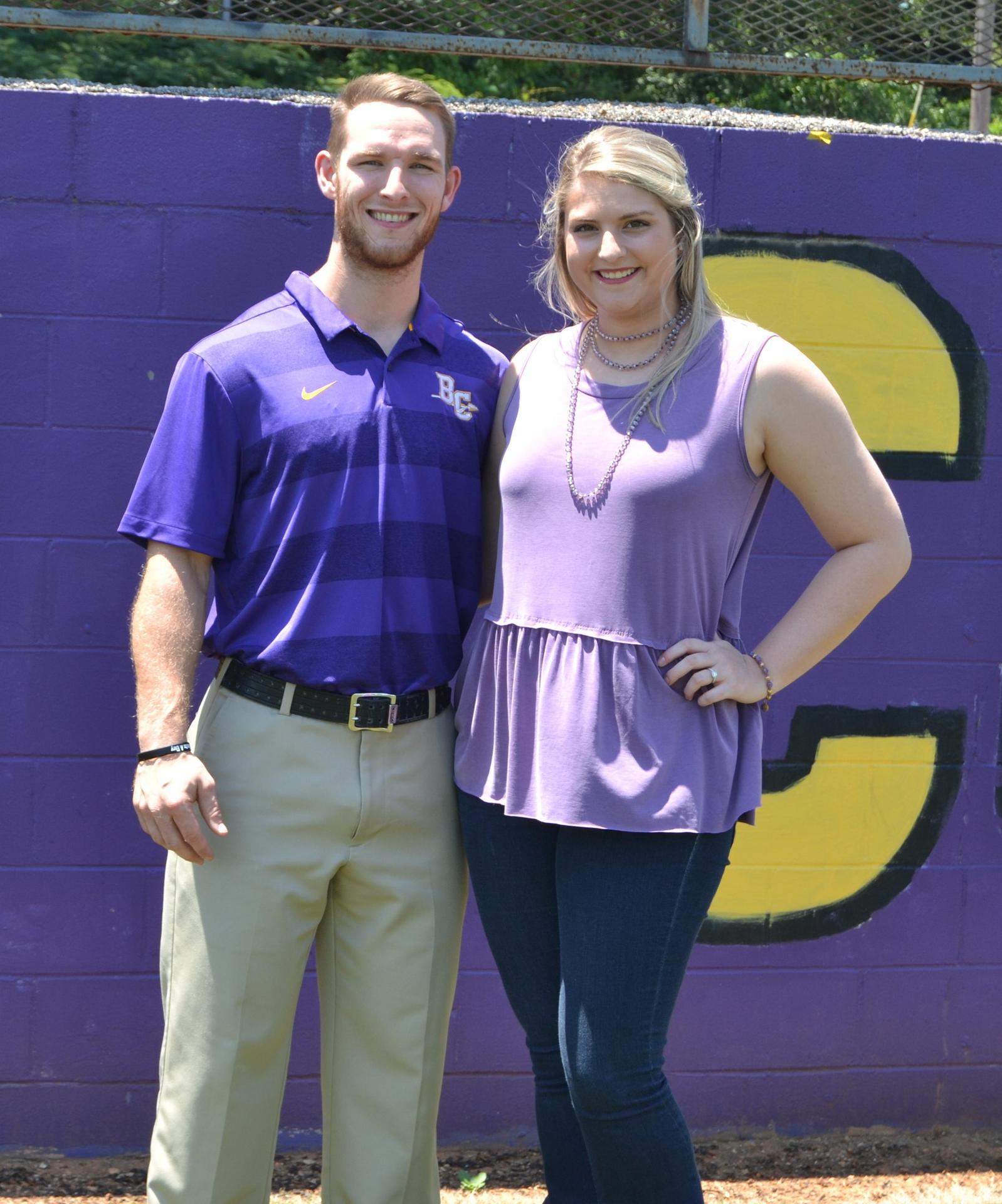 Strength Coach Kade McGee with wife Savannah