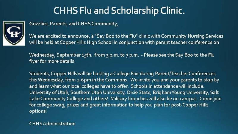 PTC Flu and Scholarship Clinic