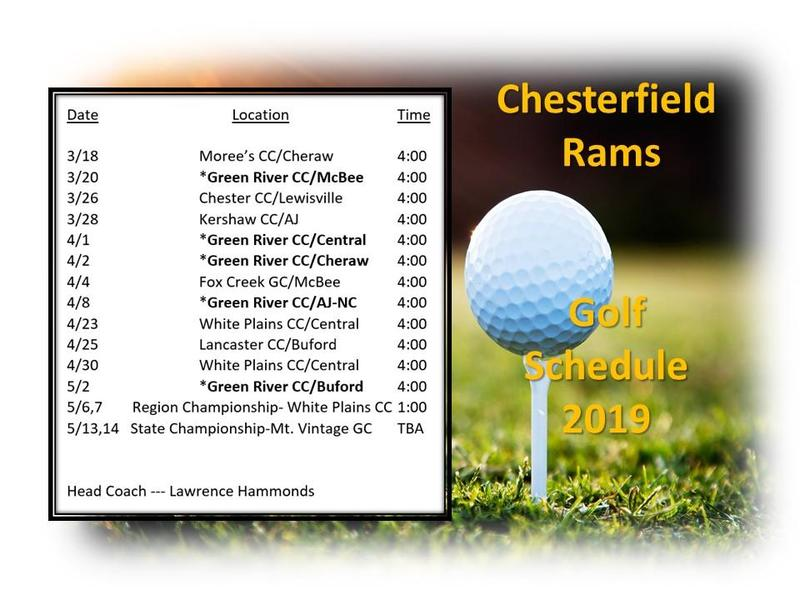 2019 Golf Schedule Featured Photo