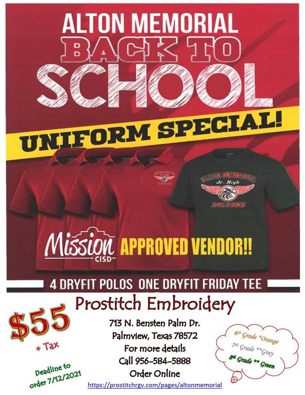 Back to school uniform flyer.