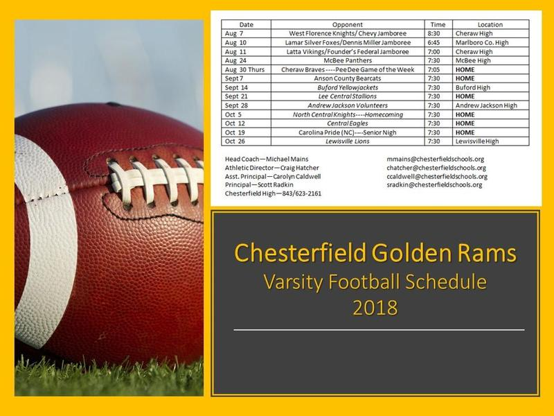 Varsity Football Schedule Featured Photo