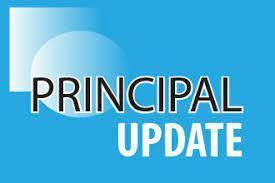 Principal Update logo on blue background image.