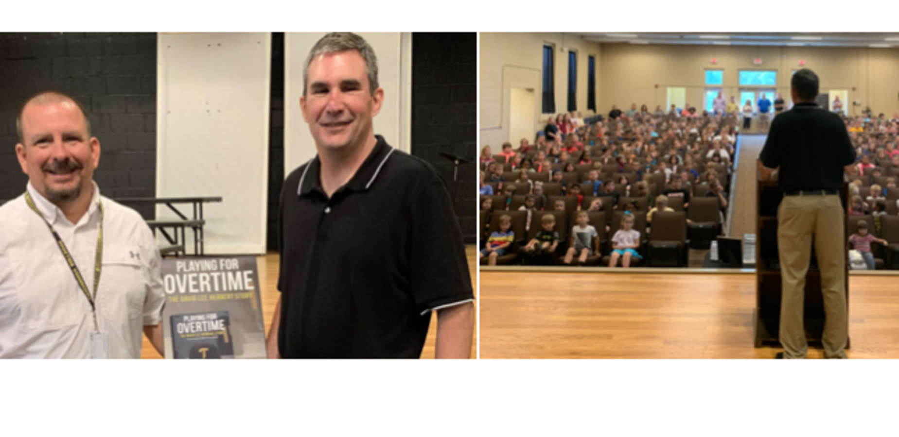 Author Al Ainsworth speaks to Tishomingo School