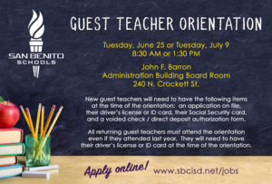 Guest Teacher Orientation