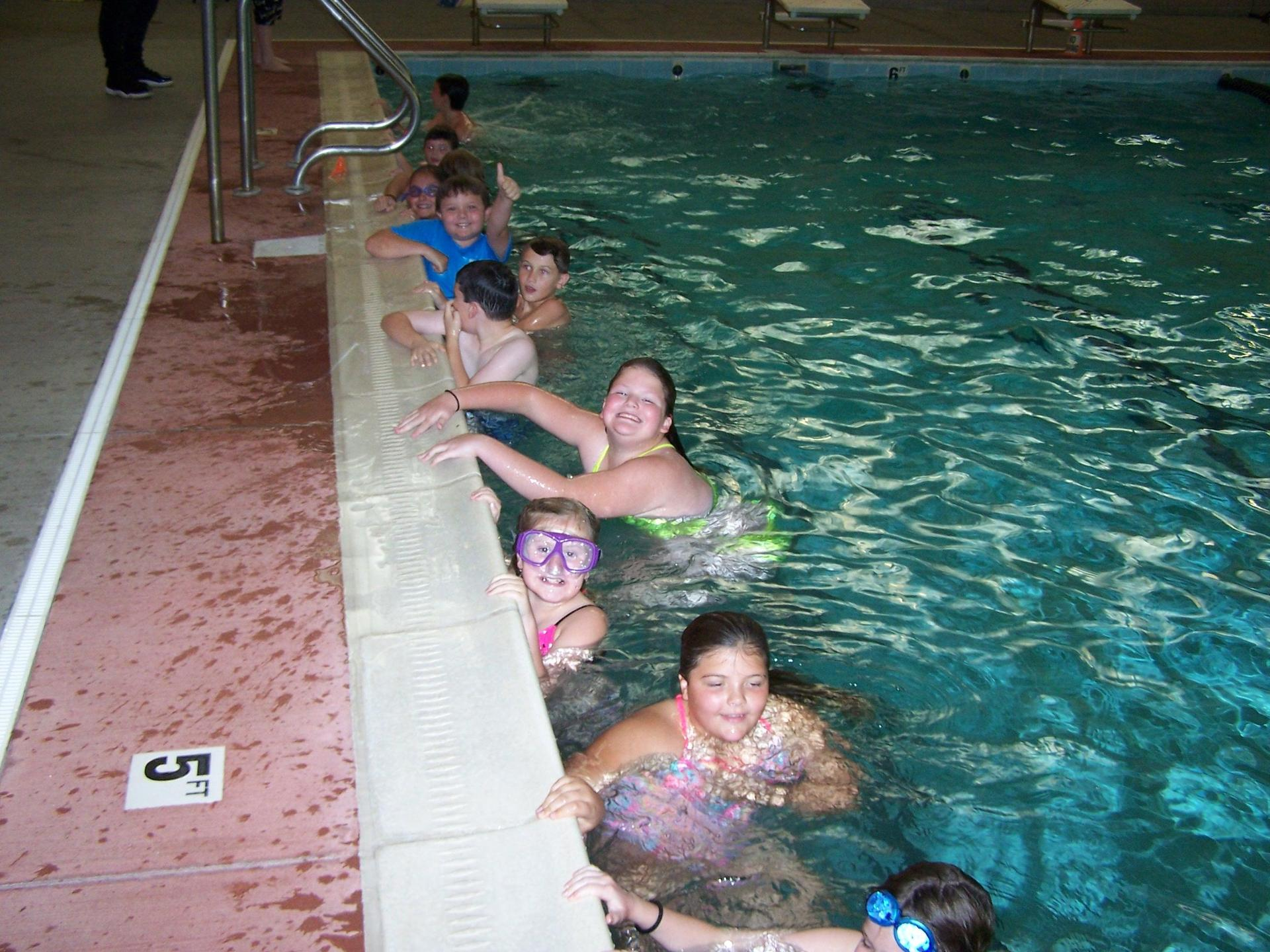 Students enjoy water safety course at the Lifetime Wellness Center in Marion