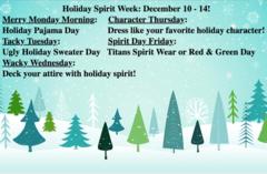 Holiday Spirit Weed: December 10-14