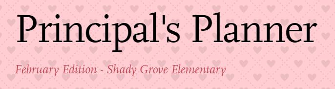 Principal's Planner - February Edition Thumbnail Image