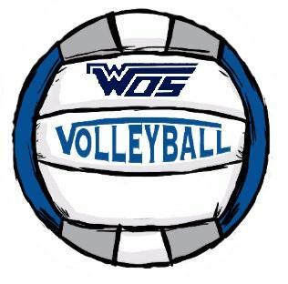 WOS Volleyball logo