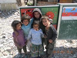 Roma children in Albania