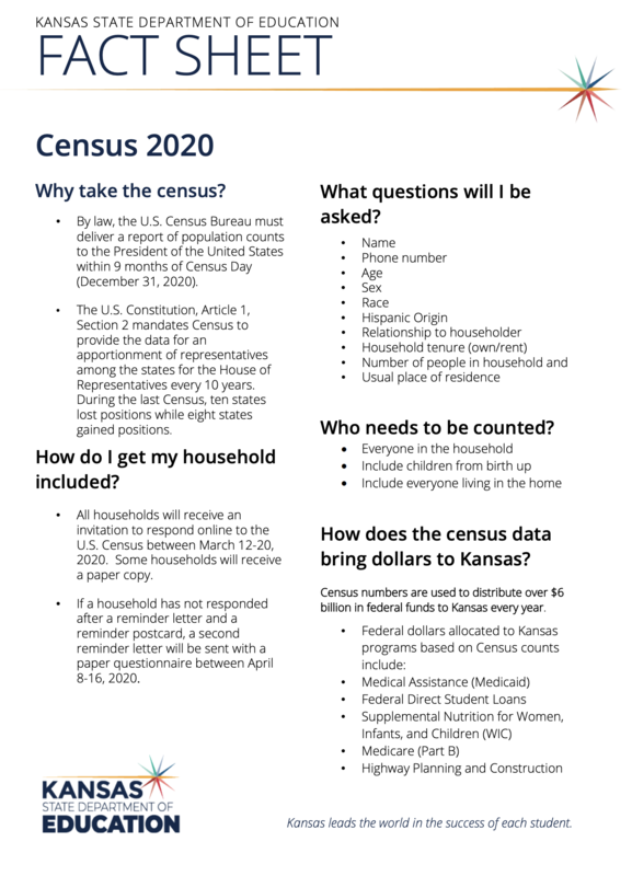 Census fact sheet