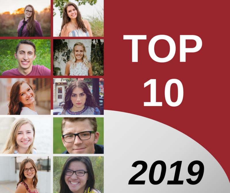 top 10 of 2019 with their senior photos