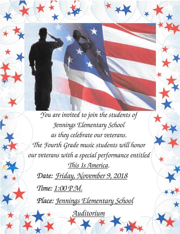 Veterans Program November 9 at 1:00 pm