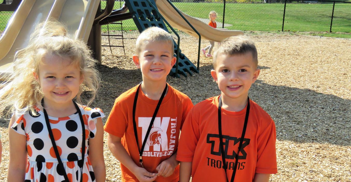 McFall students showed their TK Spirit by wearing their orange and black!