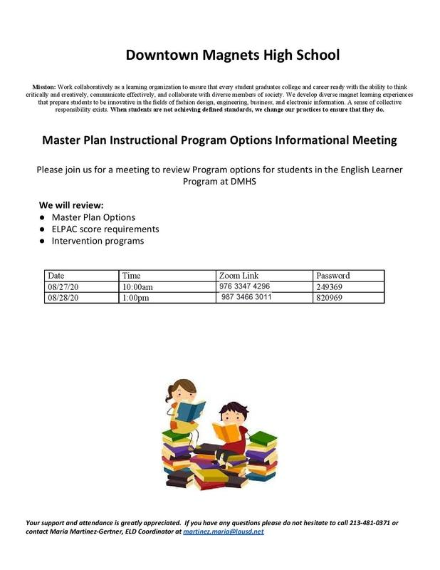 DMHS Master Plan Meeting Flyer Featured Photo
