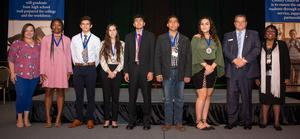 Tahquitz High School students receiving their Seal of Multiliteracy Award