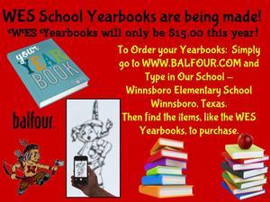 WES Yearbook Buyer Info