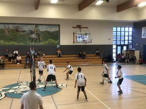 Boy volleyball defeated Rancho Viejo 2-0 to advance to the championship game.